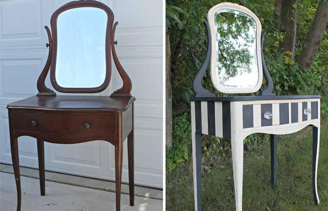 Обновленное зеркало-столик