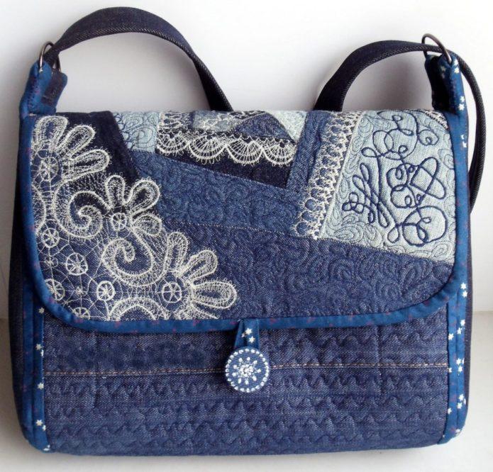 Джинсовая сумка для ноутбука
