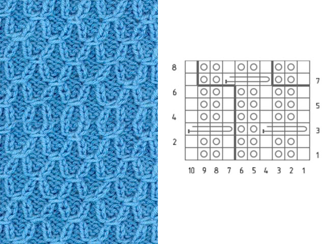 Узор для вязания шарфа спицами