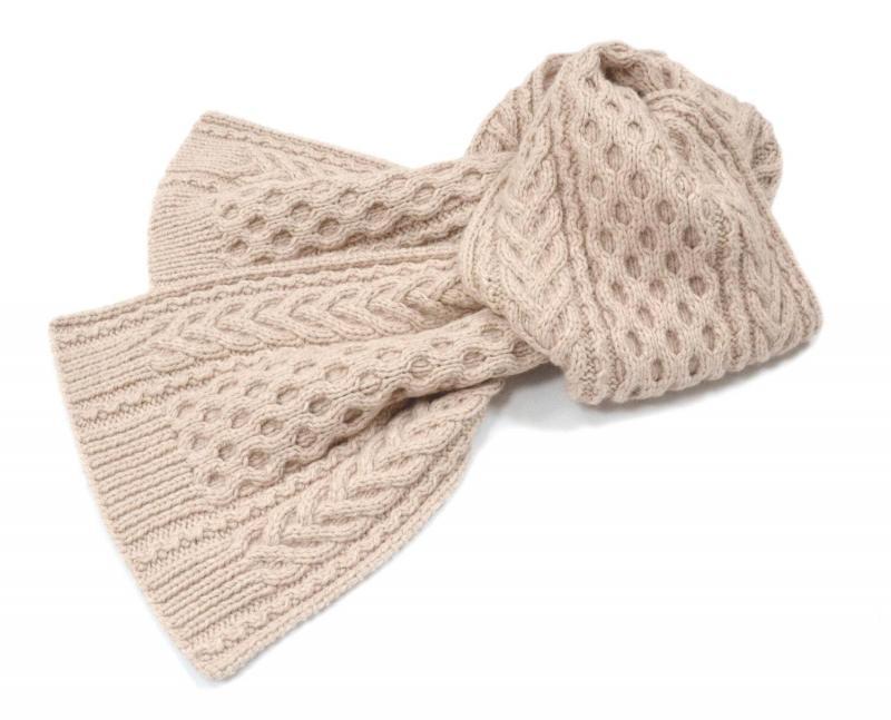 Узоры для шарфа спицами: 30 идей с фото и схемами