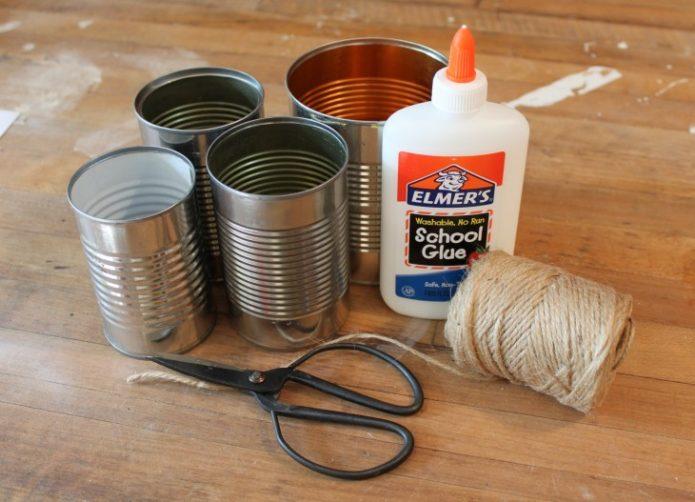 Материалы для декорирования жестяных банок