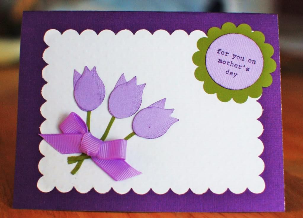 Как сделать легко открытку для мамы