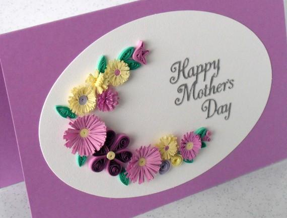 День матери открытка квиллинг