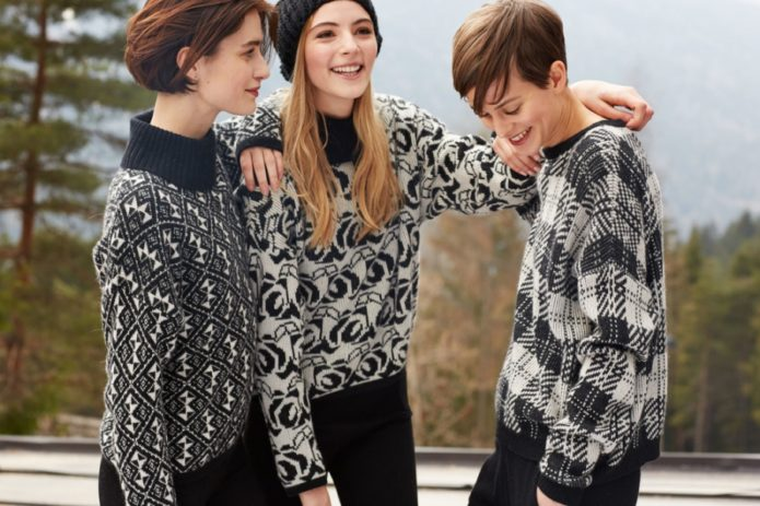 Узорчатые вязаные свитеры