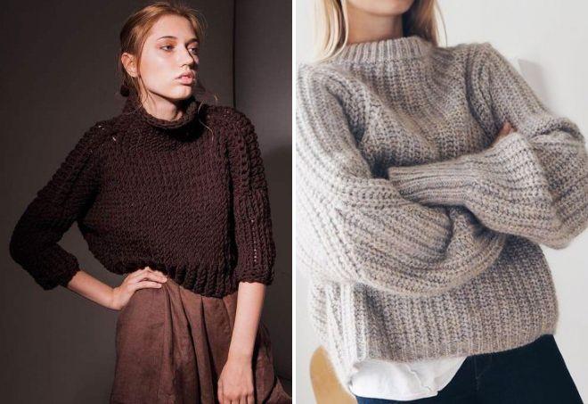 Варианты кроп-свитеров