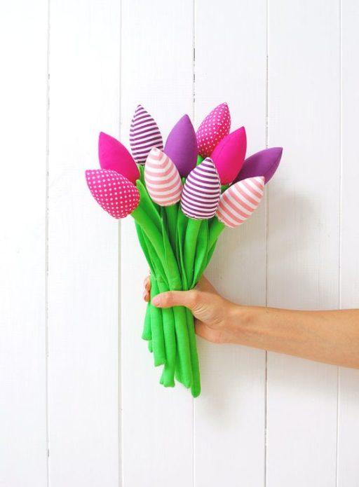 Цветы для мамы своими руками