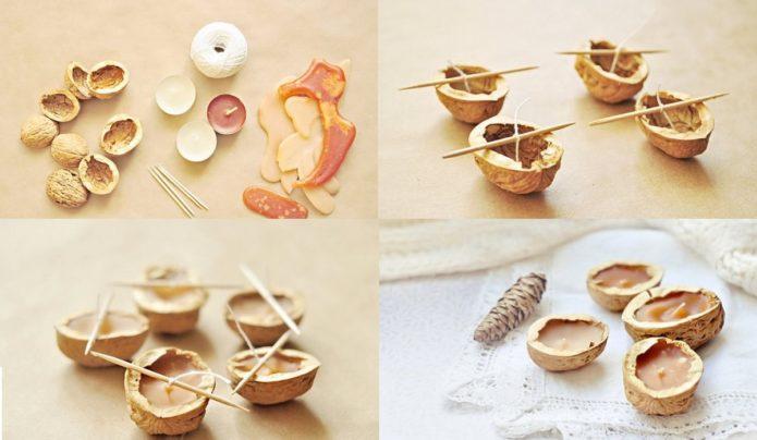 Свеши в ореховой скорлупе