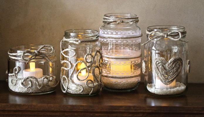 Оригинальный декор свечей