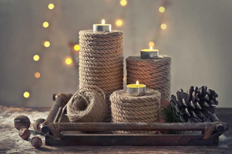 25 необычных идей декора свечей своими руками