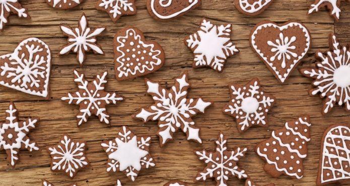 Имбирное печенье со снежинками