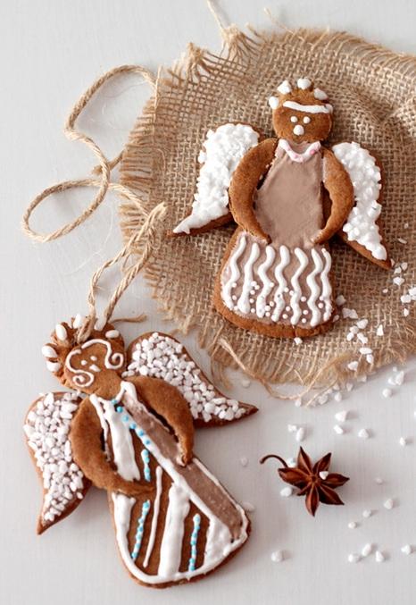 Имбирное печенье в виде ангелочка