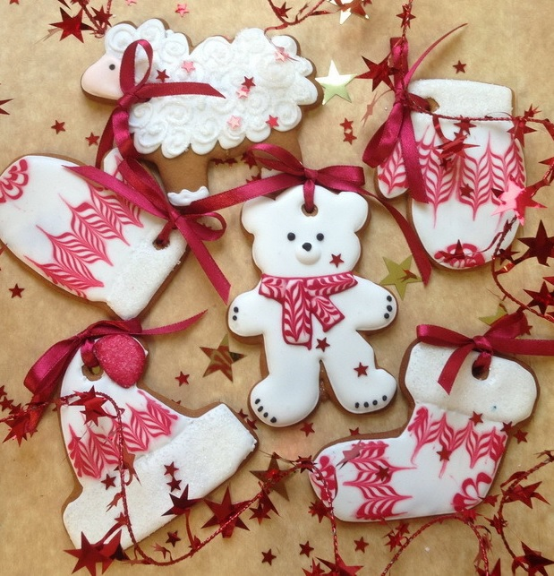 Имбирное печенье с ленточками