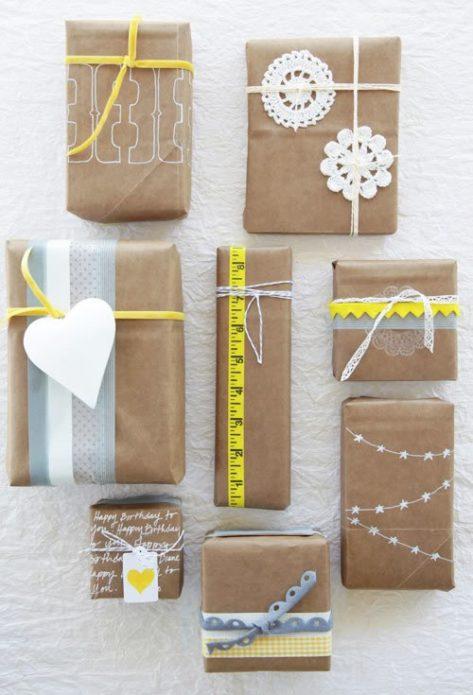 Упаковка новогодних подарков своими руками