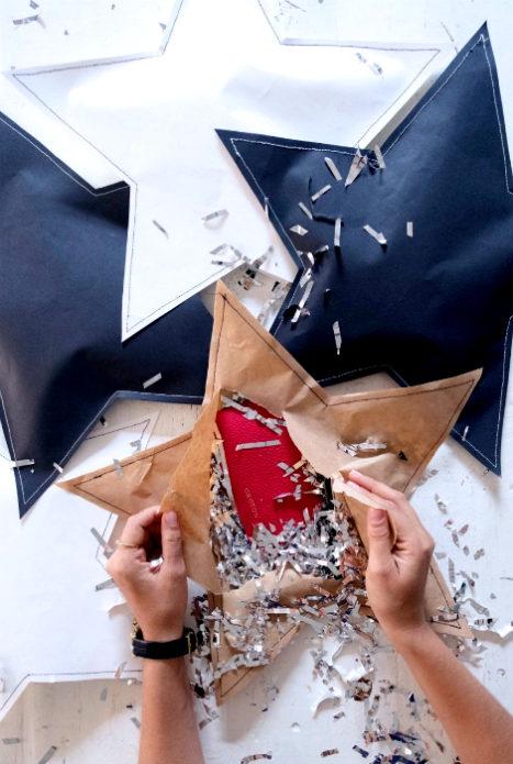Новогодняя звезда для упаковки подарков