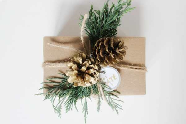 Зимнее оформление новогоднего подарка
