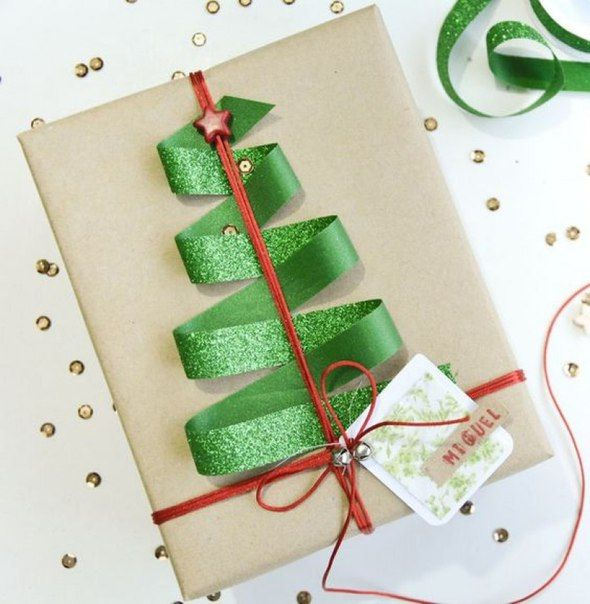 Оформление упаковки для новогоднего подарка