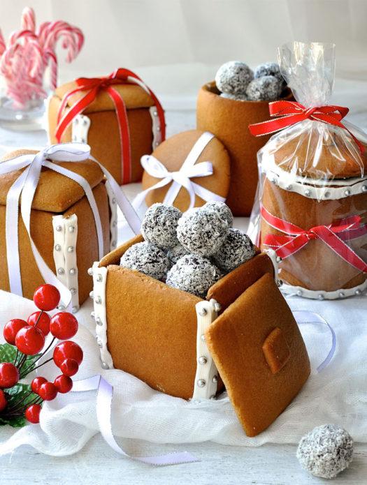 Имбирные коробочки в подарок на Новый год