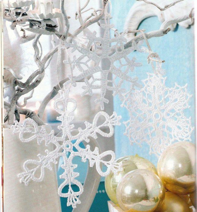 Снежинки для украшения новогодней ёлки