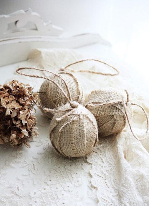 Текстильные ёлочные шары