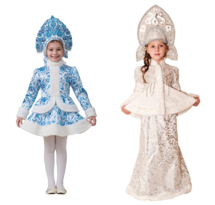 Новогодние костюмы Снегурочки