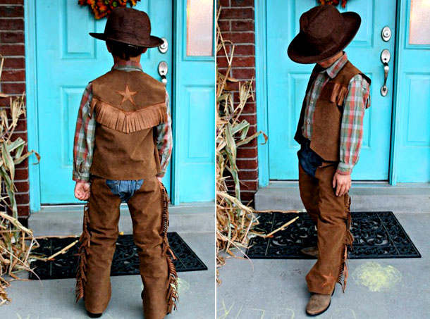 Мальчик в костюме ковбоя