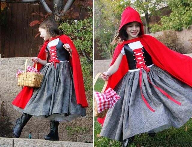 Девочка в костюме Красной шапочки