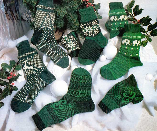 Узорчатые вязаные носки