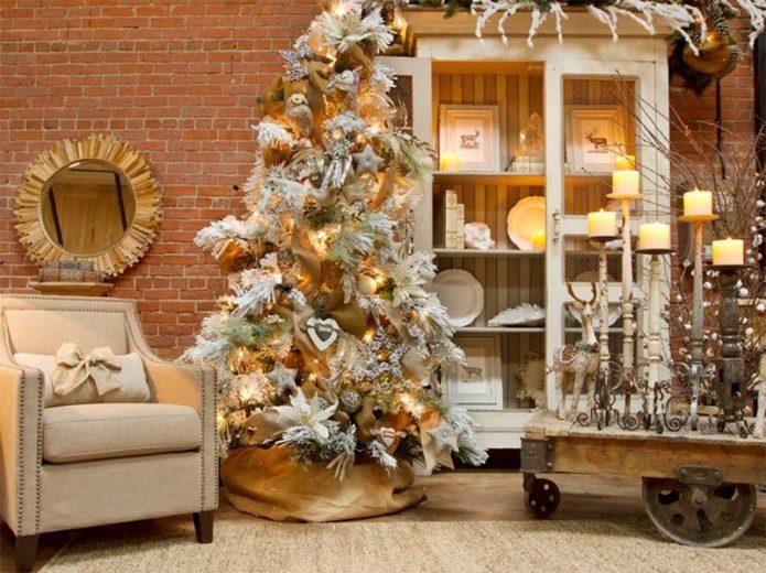 Спокойная расцветка новогодней комнаты
