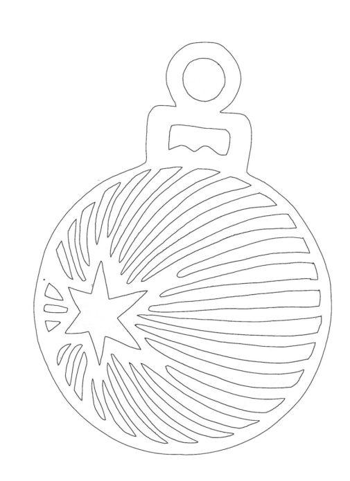 Вытынанка игрушка со звездой