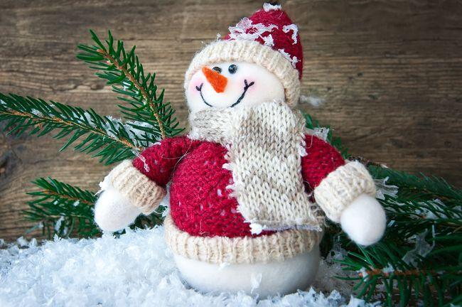 Флисовый снеговик