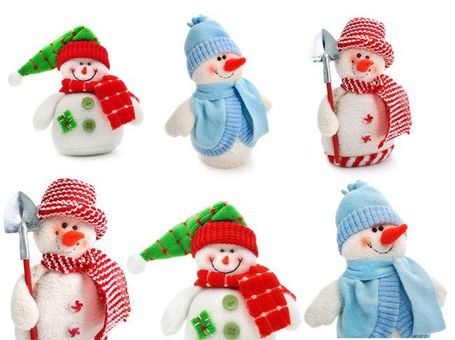 Снеговички из флиса в ассортименте