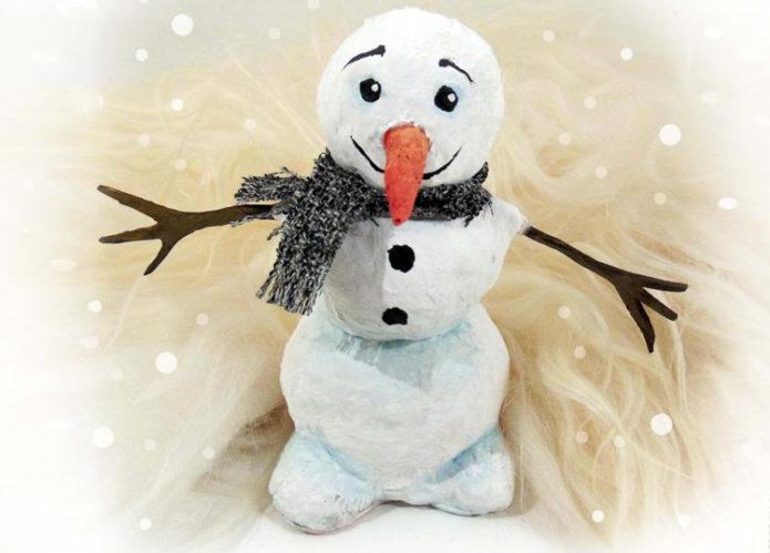 Ватный снеговичок