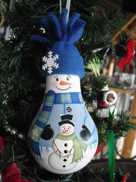 Лампочный снеговичок