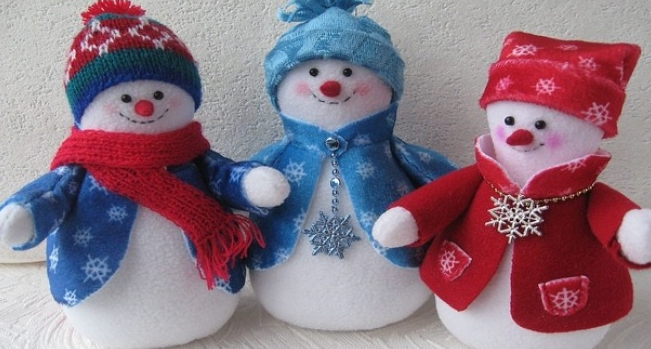 Снеговички из флиса