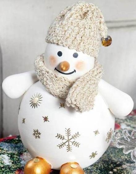 Милый снеговик из лампы