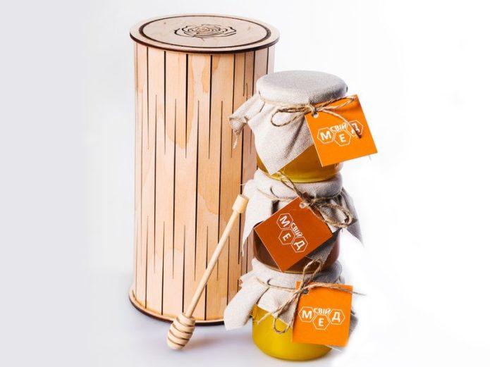 Подарочный набор из баночек мёда