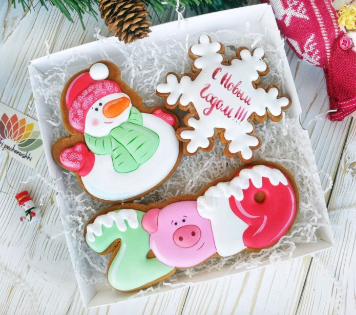 Подарочное имбирное печенье