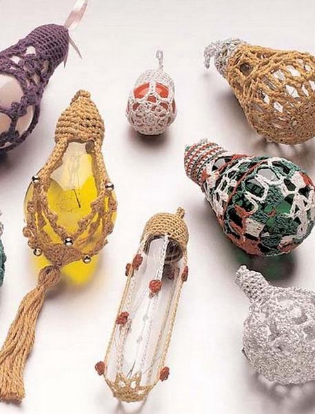 Лампочки с вязанием
