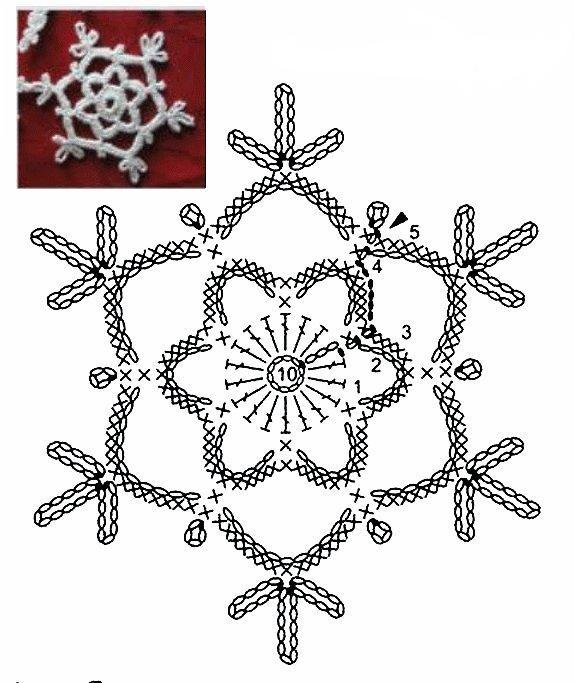 Прозрачная снежинка