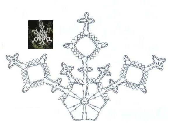 Кристаллическая снежинка
