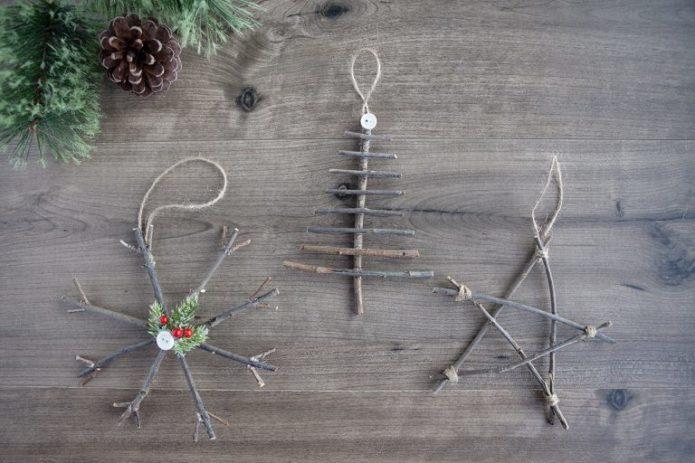 Скандинавские ёлочные игрушки
