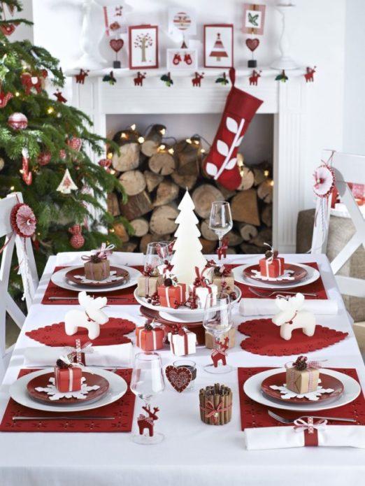 Дизайн новогоднего скандинавского стола
