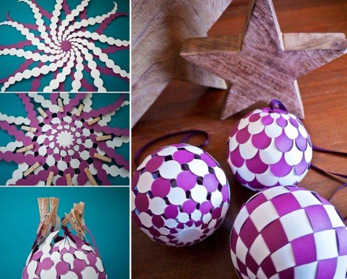 Бумажные шарики схема плетения