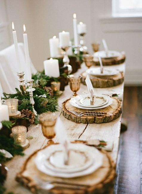 Новогодний стол в рустикальном стиле