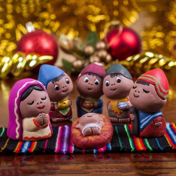 Куколки из глины для рождественского вертепа