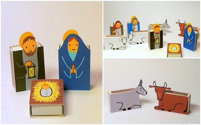 Бумажные фигурки из спичечных коробков