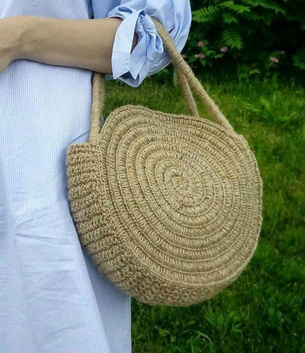 Джутовая сумка для прогулок