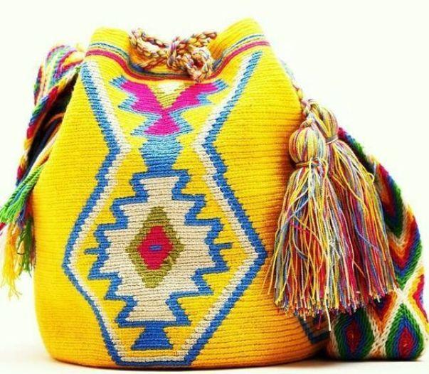 Ярко-жёлтая сумка-мочила