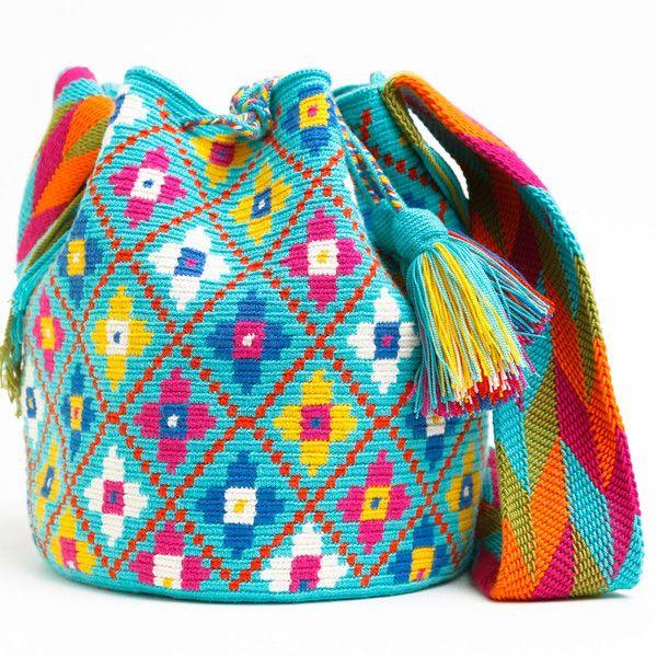 Ярко-голубая сумка-мочила
