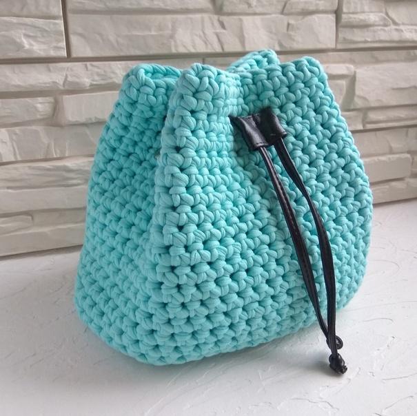 Торба из трикотажной пряжи